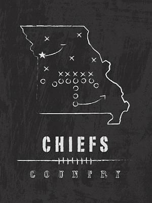 Kansas City Chiefs Art - Nfl Football Wall Print Art Print by Damon Gray
