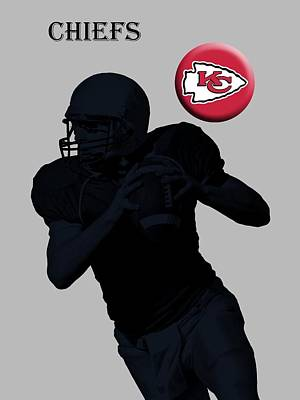 Michigan State Digital Art - Kansas City Chiefs Football by David Dehner