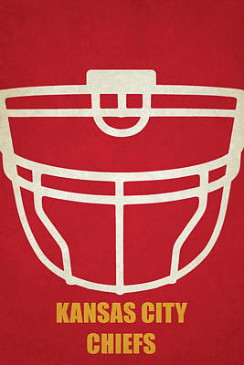 Kansas Painting - Kansas City Chiefs Helmet Art by Joe Hamilton