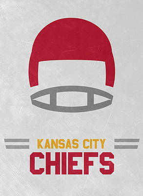 Mixed Media - Kansas City Chiefs Vintage Art by Joe Hamilton