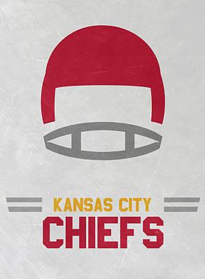 Kansas City Chiefs Vintage Art Art Print