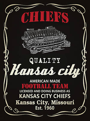 Mixed Media - Kansas City Chiefs Whiskey by Joe Hamilton