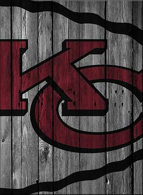 Photograph - Kansas City Chiefs Wood Fence by Joe Hamilton