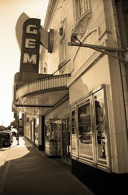 Brown Tones Photograph - Kansas City - Gem Theater Sepia 2 by Frank Romeo