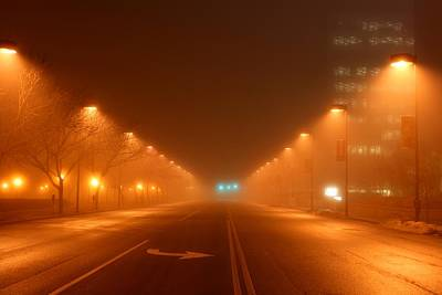 Photograph - Kansas City Grand Avenue In Fog by David Dunham