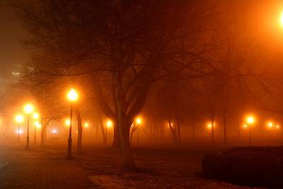 Photograph - Kansas City Grand Avenue Park In Fog by David Dunham