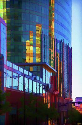 Property Mixed Media - Kansas City High Rise by Terry Davis