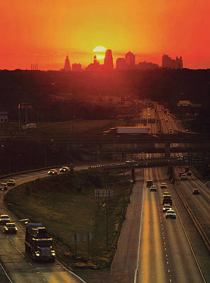 Kansas City I 70 Sunset Art Print by Don Wolf