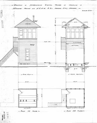 Kansas City Drawing - Kansas City Interlocking Tower Kcnw Crossing by Missouri Pacific Historical Society