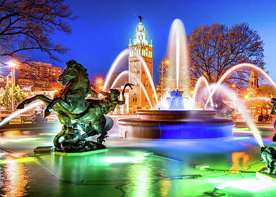 Royalty-Free and Rights-Managed Images - Kansas City J.C. Nichols Fountain and Plaza by Gregory Ballos