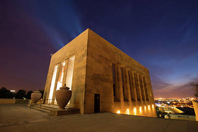Photograph - Kansas City Liberty Memorial At Night by Gregory Ballos