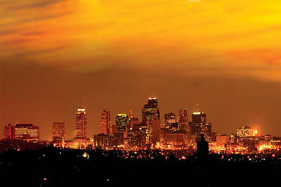Kansas City Missouri Skyline Art Print by Don Wolf