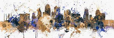 Kansas City Wall Art - Digital Art - Kansas City Missouri Skyline Panoramic by Michael Tompsett