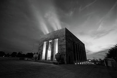 Photograph - Kansas City Monument In Black And White by Gregory Ballos