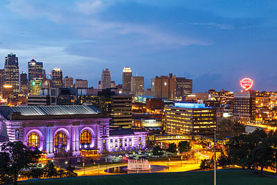 Kansas City Night Sky Art Print