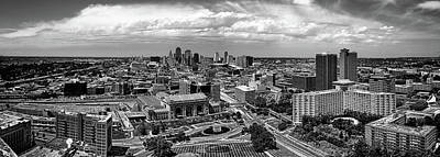 Photograph - Kansas City Panorama Bw by C H Apperson