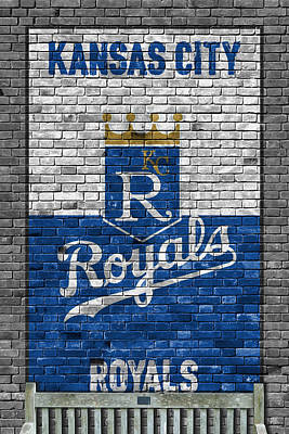 Bat Painting - Kansas City Royals Brick Wall by Joe Hamilton