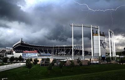 Photograph - Kansas City Royals Kauffman Stadium  by Scott Bert