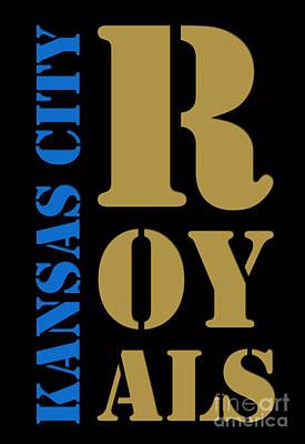 Kansas City Royals Typography Art Print by Pablo Franchi