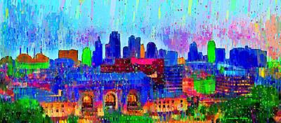 Detail Digital Art - Kansas City Skyline 200 - Da by Leonardo Digenio