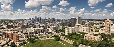 Photograph - Kansas City Skyline Aerial  by Ryan Heffron