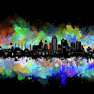 Digital Art - Kansas City Skyline Artistic 4 by Bekim Art