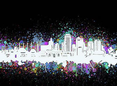 Digital Art - Kansas City Skyline Artistic 5 by Bekim Art