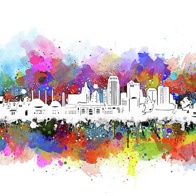 Digital Art - Kansas City Skyline Artistic by Bekim Art