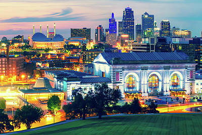 Photograph - Kansas City Skyline From The Liberty Memorial by Gregory Ballos