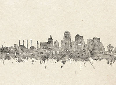 Abstract Skyline Royalty-Free and Rights-Managed Images - Kansas City Skyline Music Notes 2 by Bekim M
