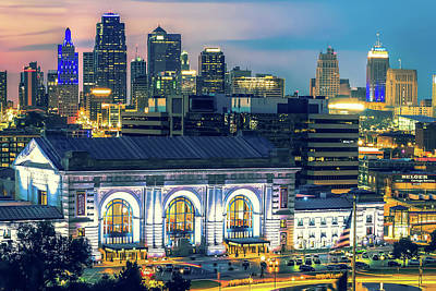 Photograph - Kansas City Skyline Over Union Station by Gregory Ballos