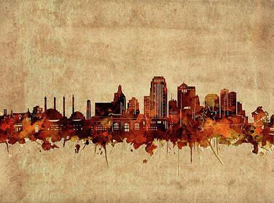 Digital Art - Kansas City Skyline Vintage 2 by Bekim Art
