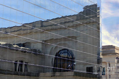 Photograph - Kansas City Union Station Reflection by Catherine Sherman