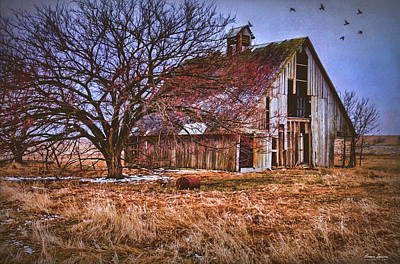 Photograph - Kansas Countryside Old Barn by Anna Louise