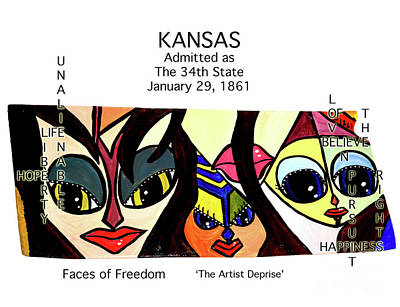 Painting - Kansas by Deprise Brescia