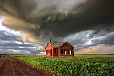 One Room Schoolhouse Photograph - Kansas Fury by Jill Van Doren Rolo