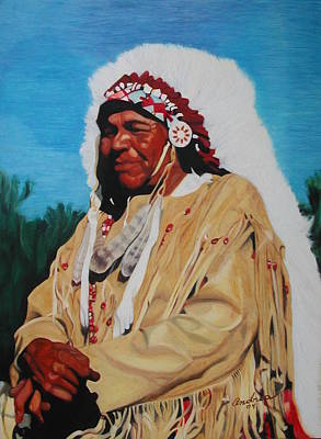 Indian Pastel - Kansas Indian by Andrea Inostroza