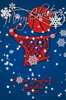 Kansas Jayhawks Christmas Card 2 Print by Joe Hamilton