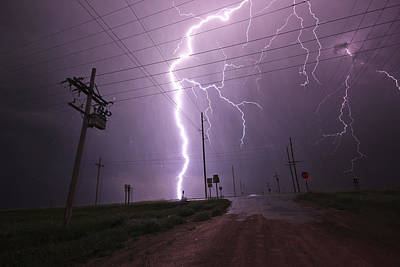 Photograph - Kansas Lightning by Ryan Crouse