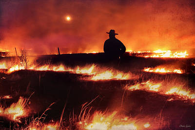 Photograph - Kansas Prairie Controlled Burn by Anna Louise