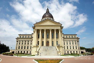 Photograph - Kansas State Capitol Building by Steven Frame