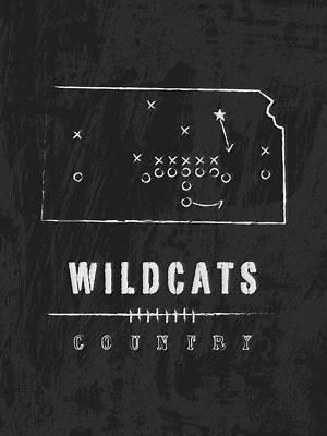 Kansas Artist Digital Art - Kansas State Wildcats Country by Damon Gray