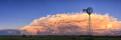 Photograph - Kansas Storm And Windmill by Scott Bean