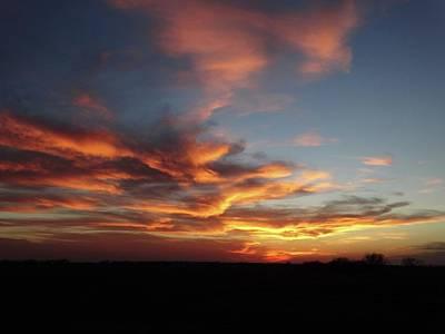 Photograph - Kansas Sunset Sky by Rebecca Overton