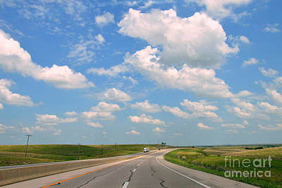 Photograph - Kansas Turnpike by Catherine Sherman
