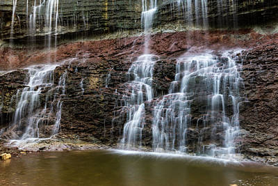 Kansas Waterfall 3 Art Print by Jay Stockhaus