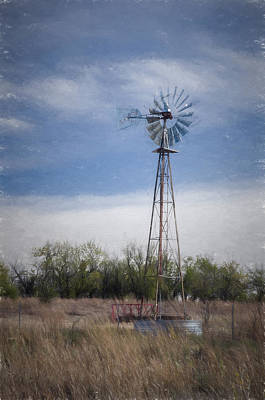 Photograph - Kansas Wind Pump Dp by Guy Whiteley