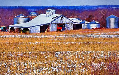 Photograph - Kansas Winter Farm by Anna Louise