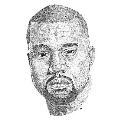 Kanye West Art Print by Marcus Price