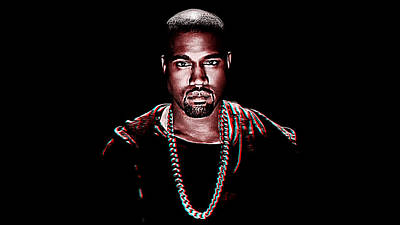 Jay Z Digital Art - Kanye West by Iguanna Espinosa